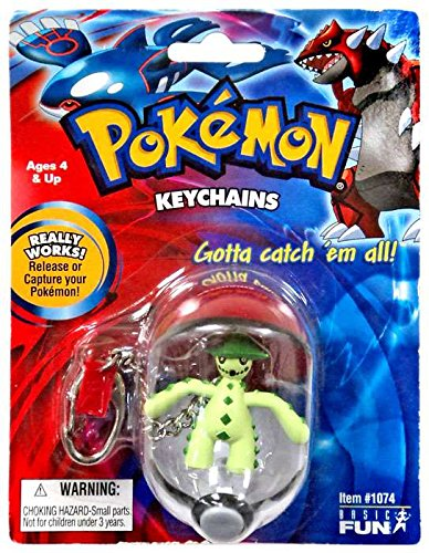 Pokemon Pokeball & Cacturne Figure Keychain