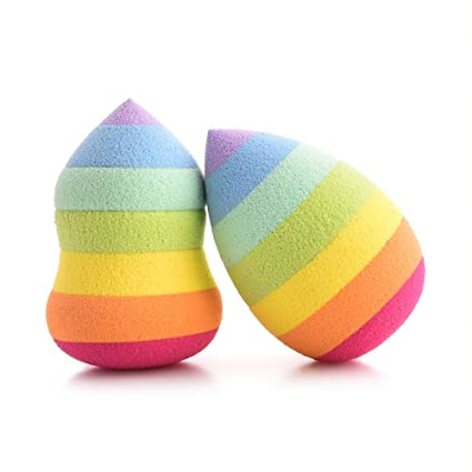 Make Up esponjas, gujhui Rainbow belleza maquillaje polvo puff ...