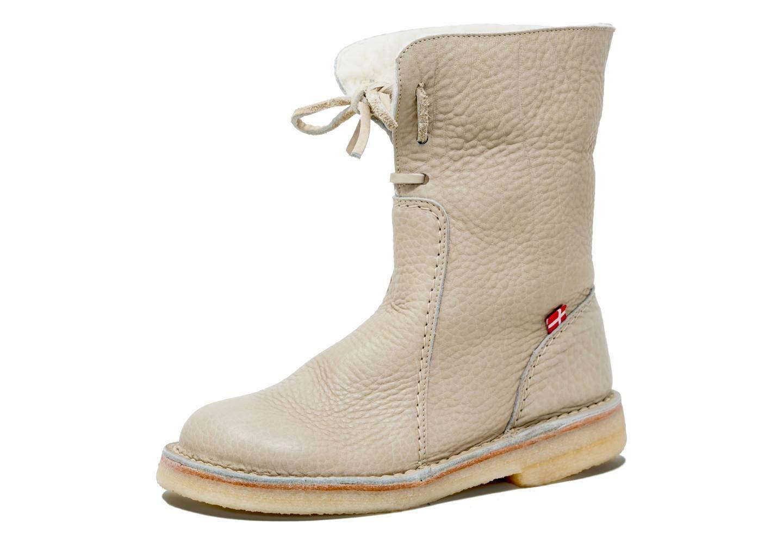Duckfeet Arhus Unisex Wool-Lined Pebbled Leather Boot(Nude,40 M EU)