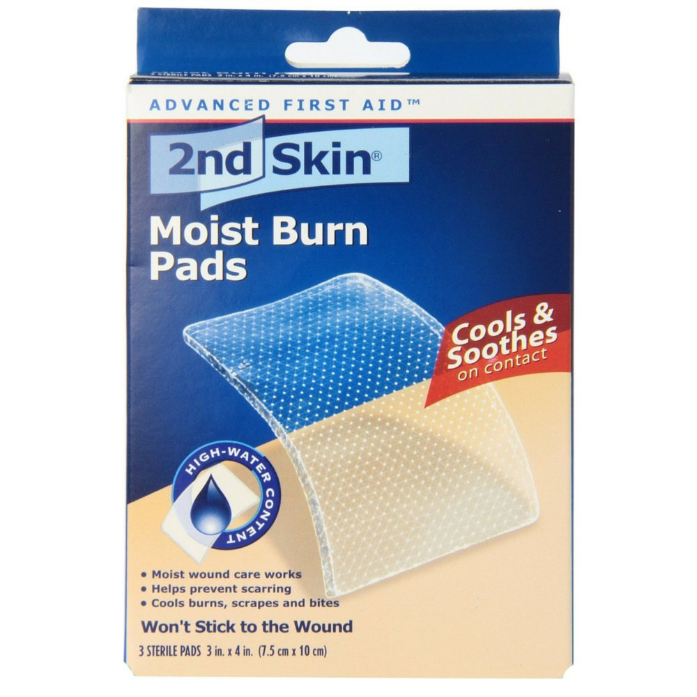 2nd Skin Moist Burn Pads 3 Inches X 4 Inches 3 Each (Pack of 4) by Spenco