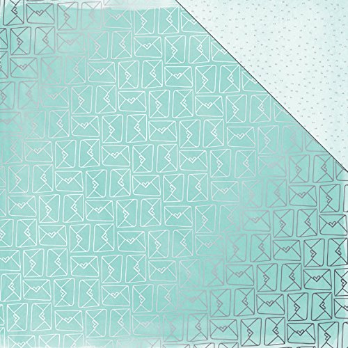 American Crafts 15 Sheets Amy Tan Rise & Shine Mia-Silver Foil Specialty Paper, 12 x 12 ()