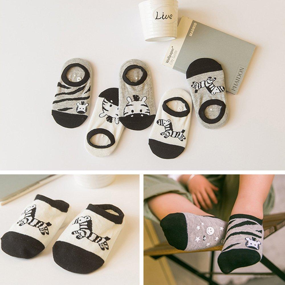 VWU 5 Pairs Pack Baby No Show Socks Toddler Low Cut Cotton Socks