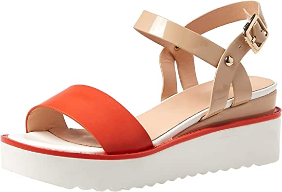 Baldi London Wedge Casual Sandals For Women - Red