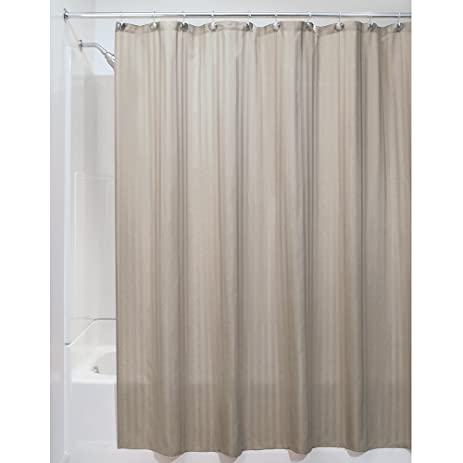 InterDesign Satin Stripe Soft Fabric Shower Curtain, 72u0026quot; X 84u0026quot;,  ...