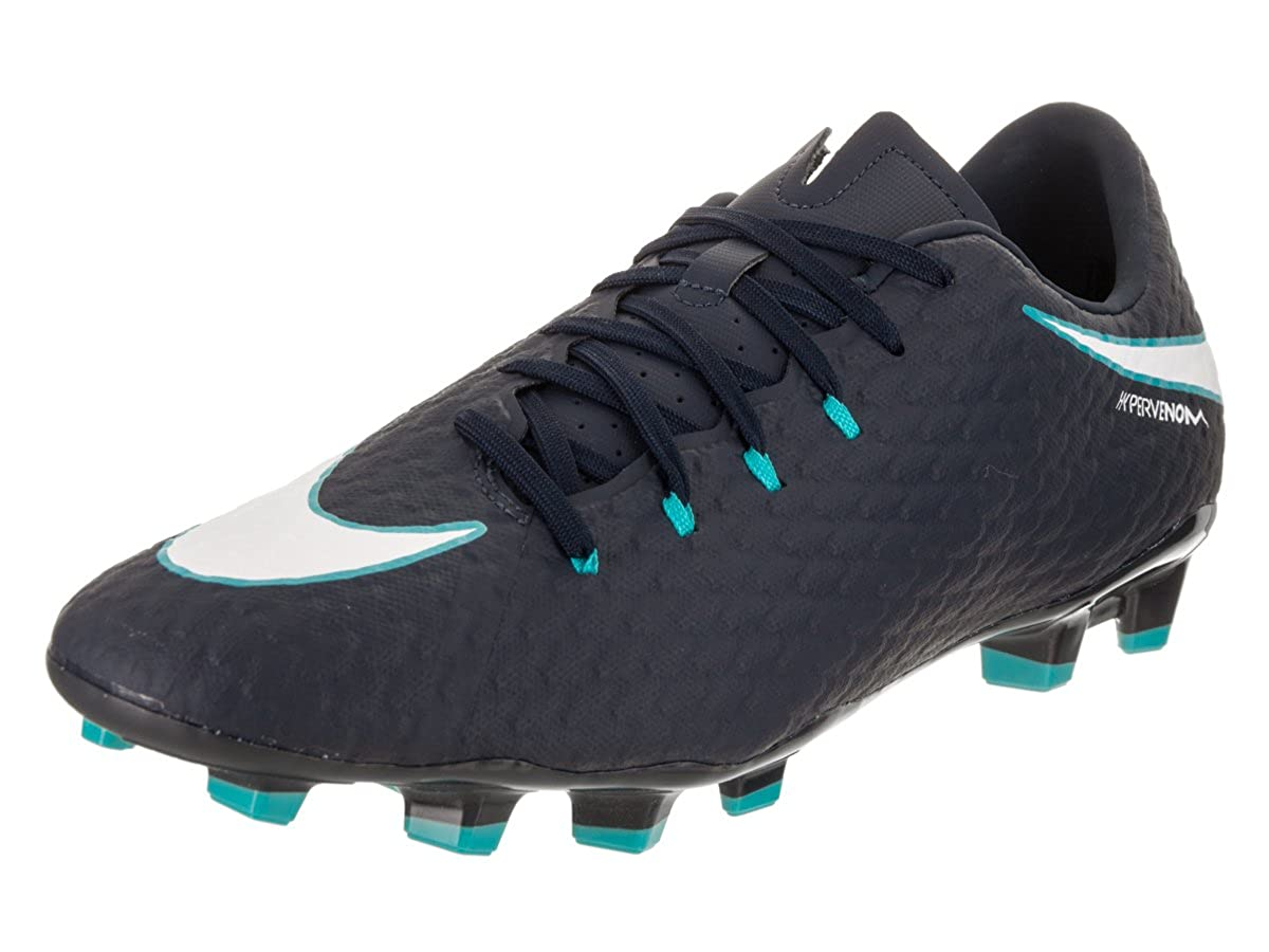 Bleu (Obsidian bleu Blanc-gamma bleu-gletscher bleu 414) Nike Hypervenom Phelon III FG, Chaussures de Football Homme 39 EU