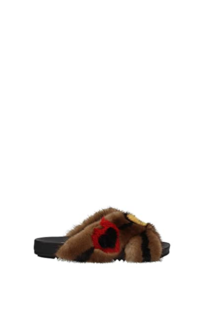 32bcffdfcfb Fendi Slippers and Clogs Women - Mink (8X6794A3H5) UK  Amazon.co.uk ...