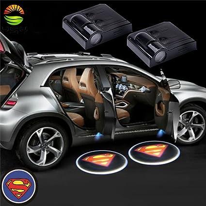 yushuangyi 2 pcs Wireless LED proyector luces de puertas de coche ...