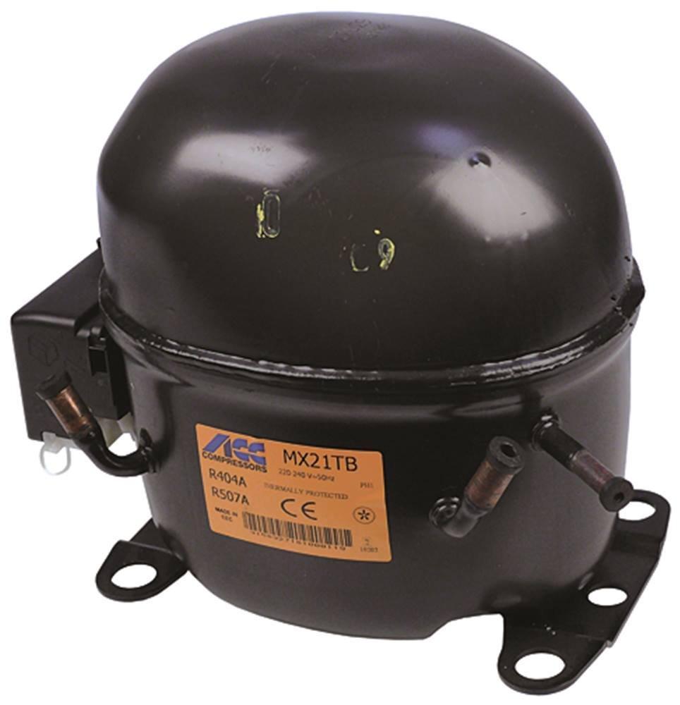 Hmbp Compressor MX21TB Air Conditioning R404A/R507220-240V 50Hz 17,5kg 1HP Engine 20,73cm³ CSR 73cm³ CSR Gastroteileshop