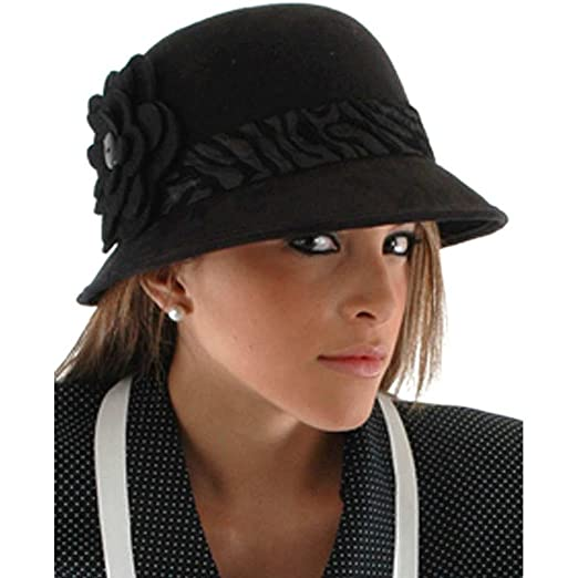 259d46947d5 Amazon.com  elope Womens Black Cloche Hat  Toys   Games