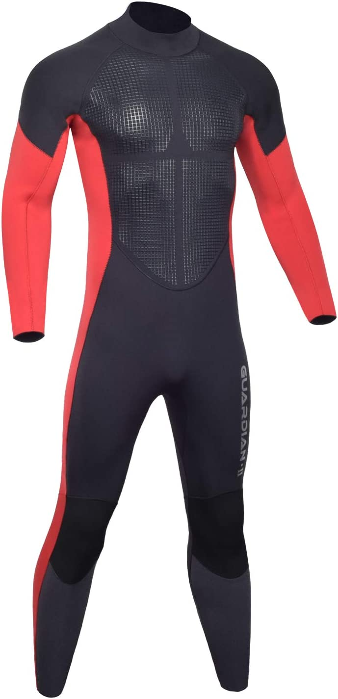 Hevto Wetsuits Men and Women Guardian II Upgrade 5/3mm Neoprene GBS Seal Scuba Diving Full Suits Surfing Long Sleeve for Water Sports