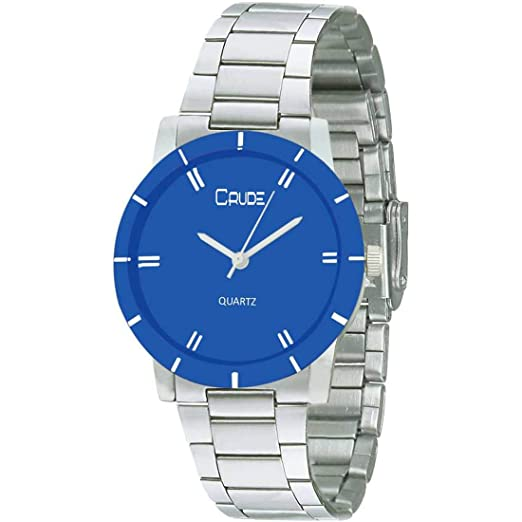 eeff8de8d Buy Crude rg2047 Silver Chain Blue dial Watch for Women & Girls Online at  Low Prices in India - Amazon.in