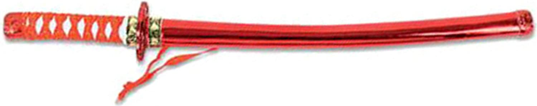 "24"" Red Costume Accessory Toy Ninja Katana Samurai Sword & Sheath"