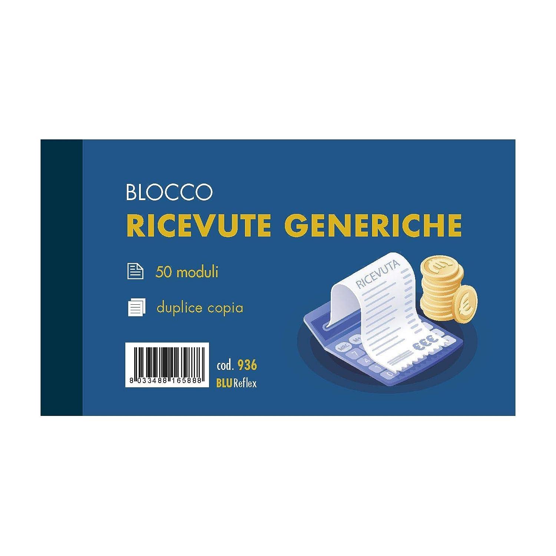 F.to 17x10 RICEVUTE GENERICHE 2 copie confezione 10 pz Fogli 50x2