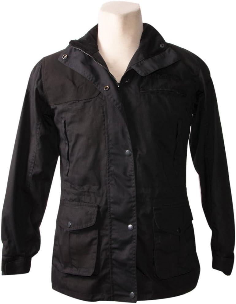 Zerimar KENROD Chaqueta para señora en poliéster y algodón Color negro Talla S