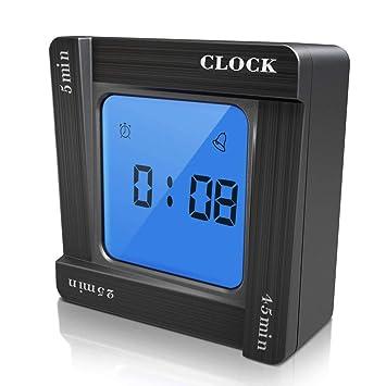 Digita Timer Reloj despertador digital con pantalla LCD de retroiluminación para la gestión del tiempo,