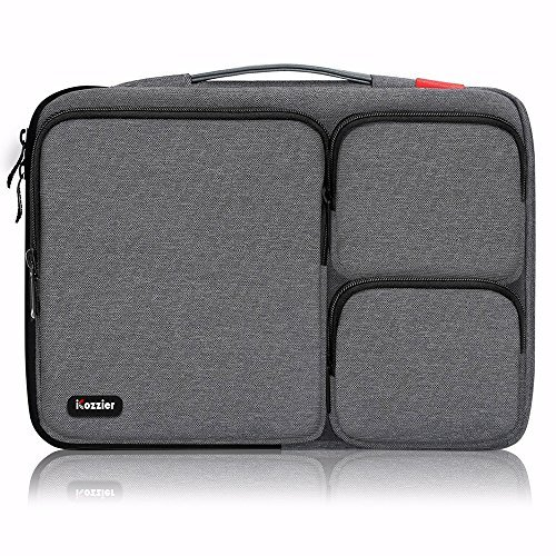 iCozzier 13-13.3 inch Thri-Sidepocket Laptop Sleeve Electronic Accessories Storage Bag Original Design for 13″ Ultrabook/Notebook/MacBook- Grey