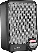 Insignia Electric Space Heater Home Office Bedroom Portable Heat - Matte black