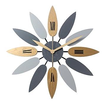 YVSoo Reloj de Pared Silencioso 52cm Modernos Reloj Decoración Adorno para Hogar Salon Oficina Comedor Habitación ... (52): Amazon.es: Hogar