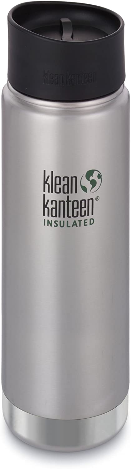 Klean Kanteen Wide Double Wall Vacuum Insulated Stainless Steel Coffee Mug with Leak Proof Café Cap 2.0