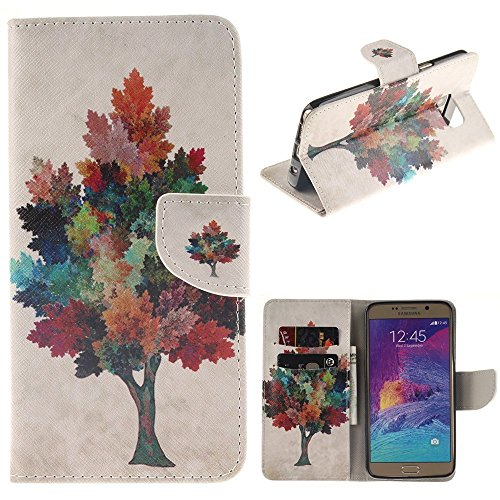 Note 5 Case Samsung Galaxy Note 5 Kickstand Case,Bat King Pu Leather Case Magnet Wallet Credit Card Holder Flip Kickstand Cover Case for Samsung Galaxy Note 5[Oak Tree]