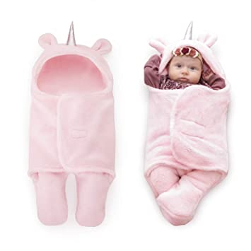 cc1d5ce65299f Upsimples Newborn Baby Girl Blanket Soft Plush Sleeping Sack Unicorn Baby  Swaddle Blanket Baby Girl...