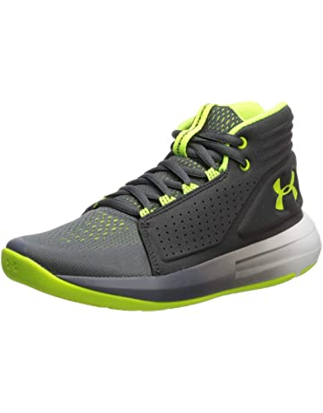 766e3d22f8 Under Armour Boys' Grade School Torch Mid Basketball Shoe Pitch (103)/Jet