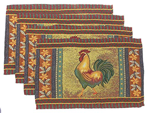 Hickoryville Placemat Bundle - Set of 4 Rooster Themed Placemats 13