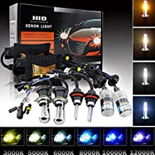 55W HID Xenon Headlight Conversion KIT with Advanced Slim Ballasts (1*light& 1*Ballast 6000K H11)