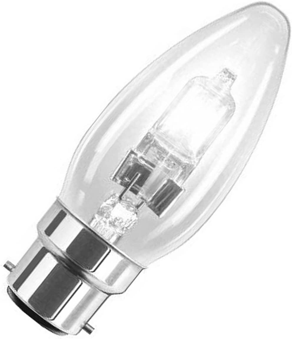 40w Equivalent 10 x Energizer GLS 33w BC B22 Clear Light Bulb ECO Halogen