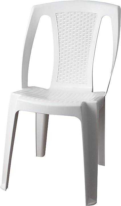 Sedie Plastica Per Giardino.Sedia Da Giardino Sedia Da Giardino Procida Plastica Bianco