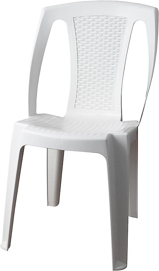 Come Pulire Le Sedie Di Plastica Da Giardino.Sedia Da Giardino Sedia Da Giardino Procida Plastica Bianco