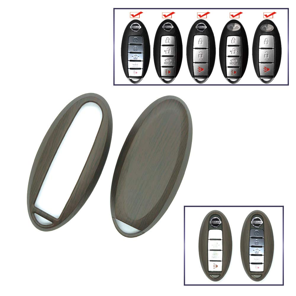 carmonmon Smart Remote Fob Key Case Cover 3 4 5 Buttons Replacement For Nissa Or Infiniti Yellow