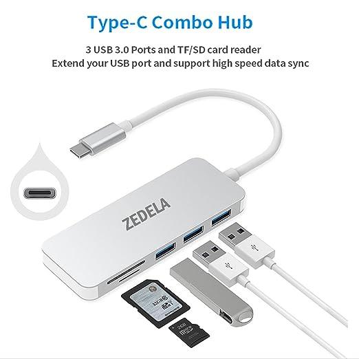 4 opinioni per Hub USB C con 3 Porte Super Speed USB 3.0 e SD / micro SD Lettore di Schede di