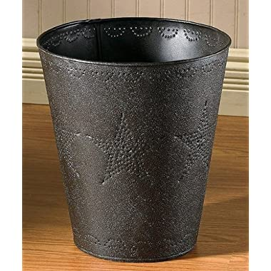 Star Punched Tin Waste Basket