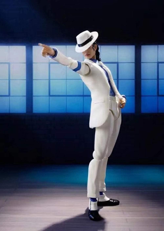 cheaaff Homme Dieu Michl SHF Michael Jackson Lisse Criminel Moonwalk Anti-gravit/é Figurine mod/èle Jouet poup/ée Garage Kit d/écoration