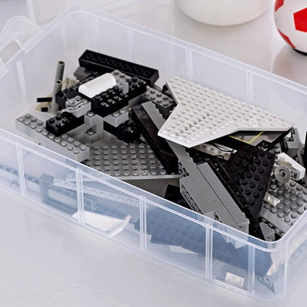 Urben Life Bo/îte De Rangement /à 3 /étages Plastique Bijoux Outils Ajustable /à Usages Multiples R/écipient