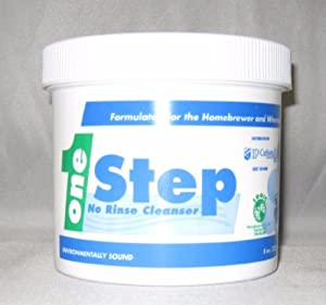 CentralBrewShop 1Step-8oz-NR One Step 8 oz. - No Rinse Cleaner/Sanitizer for Home Brewing Beer and Wine Making