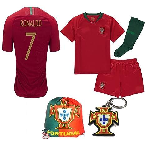 Amazon.com   Portugal World Cup 2018 18 Kid Youth Replica C. Ronaldo ... ec089286f