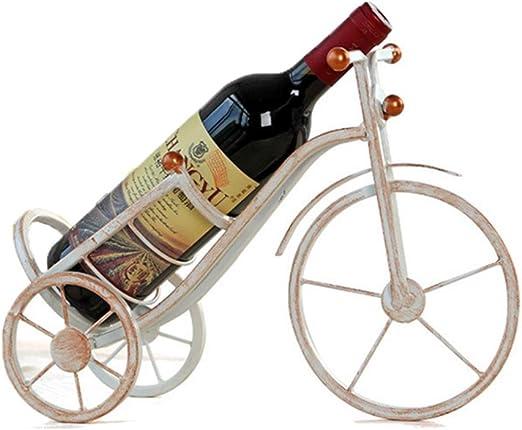 Botellero De Vino Metal Bicicleta Blanco Restaurante36×12×15cm ...
