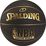Spalding 1700025 Rubber Basket Ball, Size 7 (Black/Gold)