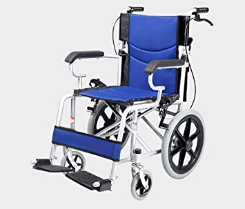 THOR-YAN Silla de ruedas Plegable Carretilla de mano portátil para personas mayores con discapacidad