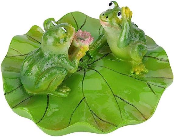 Figuritas Decorativas Estatuas para jardín Hoja de Agua Flotante Artificial Estanque de Animales Ornamento del Paisaje Estanque de Agua Ornamento del Estanque: Amazon.es: Hogar