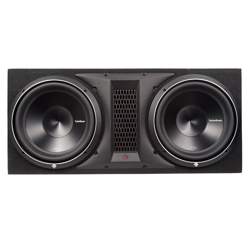 Rockford Fosgate P3-2X12 1200 Watts Dual Rms Subwoofer Enclosure by Rockford Fosgate