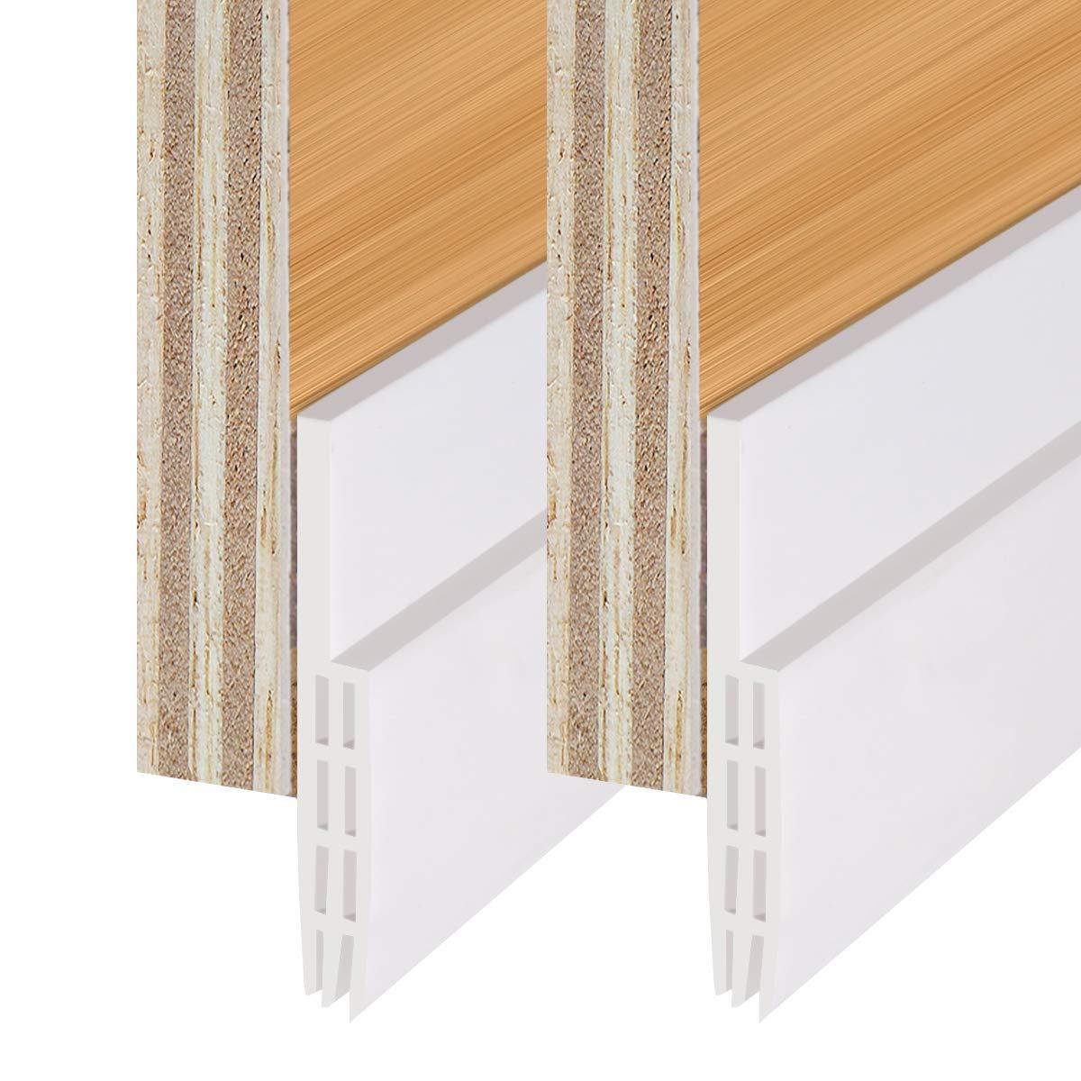 Under Door Sweep Door Draft Stopper Self-adhesive Weather Stripping Door Bottom Seal Strip door draft stopper door weather seal,2'' Width x 39.7'' Length, 2 Pack