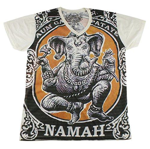 work-ganesh-elephant-hindu-god-lakshmi-yoga-t-shirt-wk103-size-xl