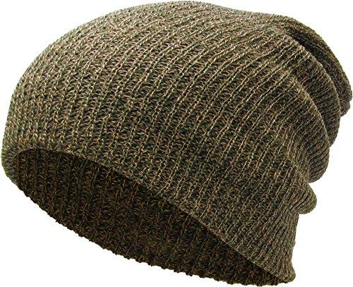 KBW-10 OLV Slouchy Beanie Baggy Style Skull Cap Winter Unisex Ski Hat