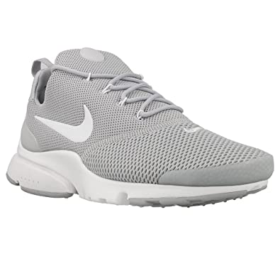 New Men's NIKE Presto Fly Running Sneaker (8, Wolf Grey/Wolf Grey/