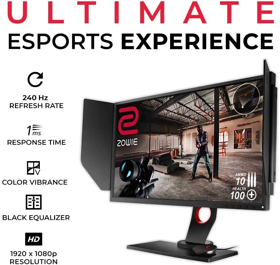 Amazon.com: BenQ ZOWIE XL2540 24.5 Inch 240Hz Gaming Monitor with G-Sync  Compatible/ Adaptive Sync | 1080P 1ms | Black eQualizer for Competitive  Edge | S-Switch for custom Display Profiles | Shield: Computers