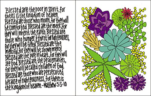 NIV Beautiful Word Bible for Girls, Hardcover, Floral: 500 Full-Color Illustrated Verses by HarperCollins (Image #6)