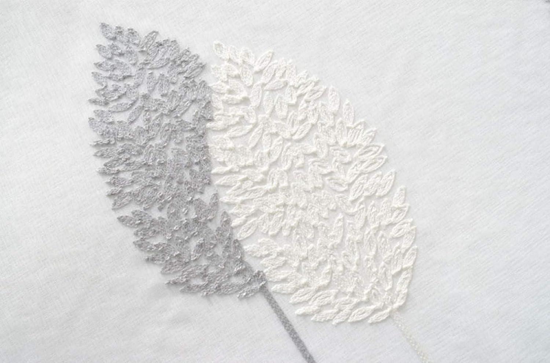 CURTAINS Cortinas Transparentes Voile White Hilo Base Gris Hoja Bordado para Sala Habitación Tratamiento De La Ventana Anti UV Cortinas De Ventana Cortina ...